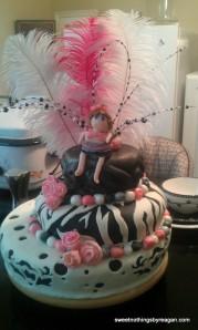 1st Bday Diva Cake front