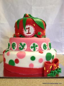 1st bday strawberry shortcake 2