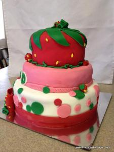 1st bday strawberry shortcake