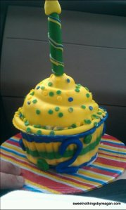 2 YO Boy cupcake