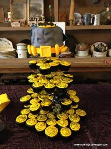 batman grooms cupcake tower