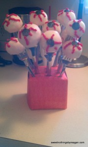 Cake pop eyeballs